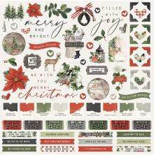 Simple Stories Sticker Sheet 12X12 - SV Rustic Christmas