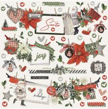 Simple Stories Sticker Sheet 12X12 - SV Rustic Christmas Banner