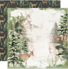 Simple Stories SV Rustic Christmas Cardstock 12X12 - Reindeer Games