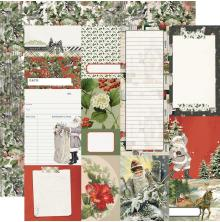 Simple Stories SV Rustic Christmas Cardstock 12X12 - Journal Elements