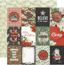 Simple Stories SV Rustic Christmas Cardstock 12X12 - 3X4 Elements