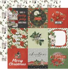 Simple Stories SV Rustic Christmas Cardstock 12X12 - 4X4 Elements