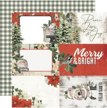 Simple Stories SV Rustic Christmas Cardstock 12X12 - 4X6 Elements