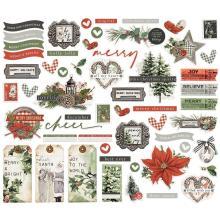 Simple Stories Bits & Pieces Die-Cuts 56/Pkg - SV Rustic Christmas
