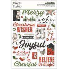 Simple Stories Sticker Book 4X6 12/Pkg - SV Rustic Christmas