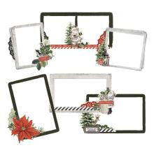 Simple Stories Layered Frames 6/Pkg - SV Rustic Christmas