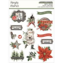 Simple Stories Layered Stickers 14/Pkg - SV Rustic Christmas