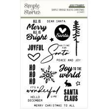 Simple Stories Clear Stamps - SV Rustic Christmas