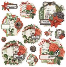 Simple Stories Chipboard Clusters 12/Pkg - SV Rustic Christmas