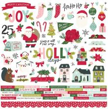Simple Stories Sticker Sheet 12X12 - Holly Days