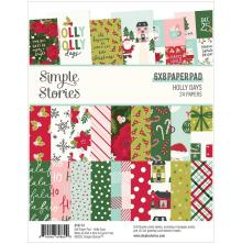 Simple Stories Double-Sided Paper Pad 6X8 - Holly Days