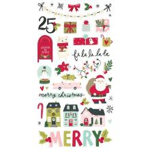 Simple Stories Chipboard Stickers 6X12 - Holly Days