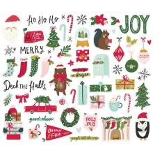 Simple Stories Bits & Pieces Die-Cuts 60/Pkg - Holly Days