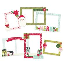 Simple Stories Layered Frames 6/Pkg - Holly Days