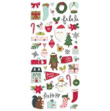 Simple Stories Puffy Stickers - Holly Days