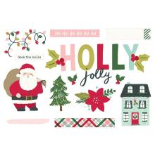 Simple Stories Simple Page Pieces - Holly Days Holly Jolly