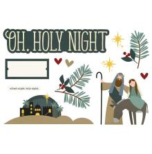 Simple Stories Simple Page Pieces - Oh, Holy Night