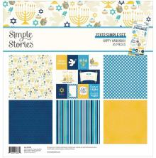 Simple Stories Collection Kit 12X12 - Happy Hanukkah