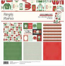 Simple Stories Collection Kit 12X12 - Ugly Christmas Sweater
