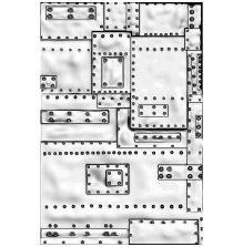 Tim Holtz Sizzix 3-D Texture Fades Embossing Folder - Mini Foundry
