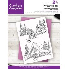 Crafters Companion Clear Acrylic Stamp - Woodland Cottage
