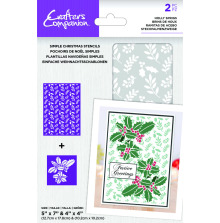 Crafters Companion Stencil - Holly Sprigs