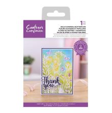 Crafters Companion Photopolymer Stamp - Wild Flowers & Butterflies