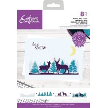 Crafters Companion Photopolymer Stamp - Woodland Stags