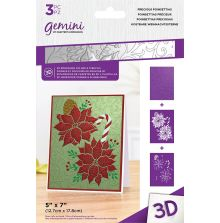 Gemini 3D Embossing Folder & Stencil - Precious Poinsettias