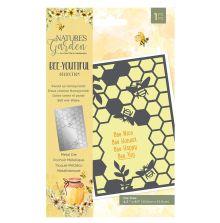 Natures Garden Bee-Youtiful Collection Metal Die - Sweet as Honeycomb