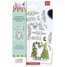 Natures Garden Garden Gnomes Stamp - Gnome Kissing Gate