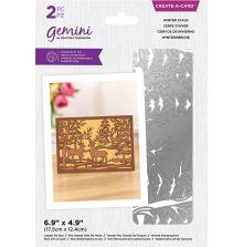 Gemini Create-a-Card - Winter Stags