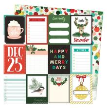 Vicki Boutin Warm Wishes Double-Sided Cardstock - Hello December