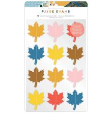 Paige Evans Dimensional Stickers - Bungalow Lane Leaf Embellishment