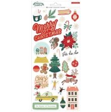 Crate Paper Cardstock Stickers 6X12 - Busy Sidewalks