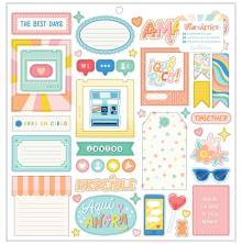 American Crafts Obed Marshall Chipboard Stickers 12X12 - Fantastico
