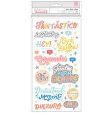 American Crafts Obed Marshall Fantastico Thickers Stickers - Smile Phrase