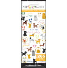 Me & My Big Ideas Stickers 266/Pkg - Colorful Dogs