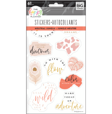 Me & My Big Ideas Stickers 5 Sheets - Neutral Jungle