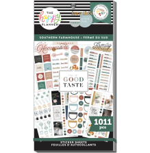 Me & My Big Ideas Happy Planner Stickers Value Pack - Southern Farmhouse 1011