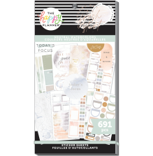 Me & My Big Ideas Happy Planner Stickers Value Pack - Neutral Watercolors 691