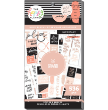 Me & My Big Ideas Happy Planner Stickers Value Pack - BIG Bold Blush 536