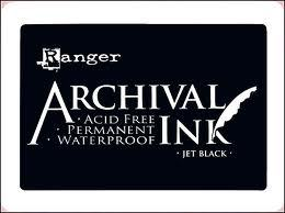 Ranger Ink Archival Inkpad - Jet Black