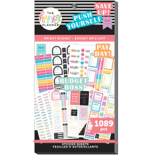 Me & My Big Ideas Happy Planner Stickers Value Pack - Bright Budget 1089