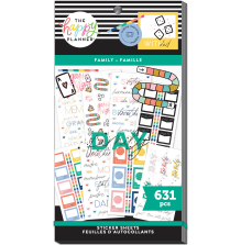 Me & My Big Ideas Happy Planner Stickers Value Pack - Family 631