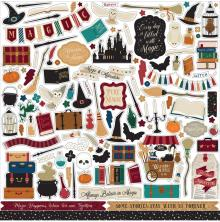 Echo Park Cardstock Stickers 12X12 - Witches & Wizards No.2