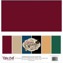 Echo Park Solid Cardstock 12X12 6/Pkg - Witches & Wizards No.2