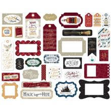 Echo Park Witches & Wizards No.2 Cardstock Die-Cuts 33/Pkg - Frames & Tags