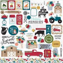 Echo Park Cardstock Stickers 12X12 - Farmers Market