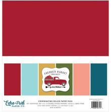 Echo Park Solid Cardstock 12X12 6/Pkg - Farmers Market